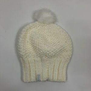 Pistil White Pom-Pom Knit Hat